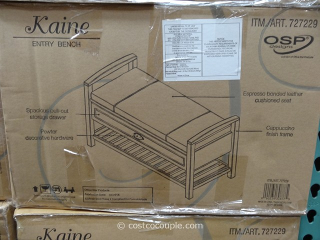 OSP Designs Kaine Entry Bench Costco 3