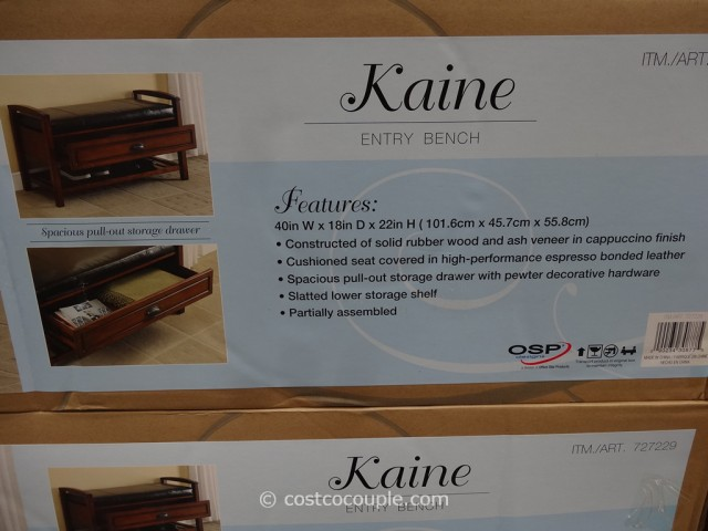 OSP Designs Kaine Entry Bench Costco 6