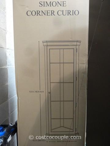 Pulaski Furniture Simone Corner Curio Cabinet Costco 3