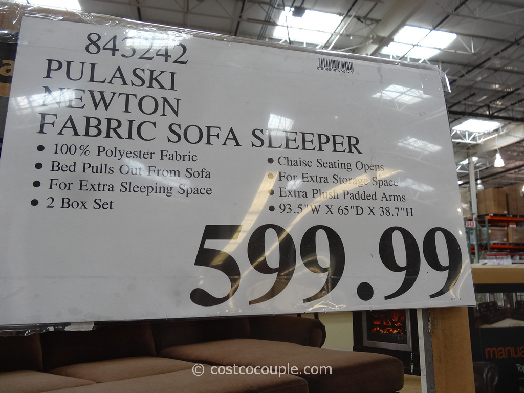 Pulaski Newton Chaise Sofa Bed Costco 1