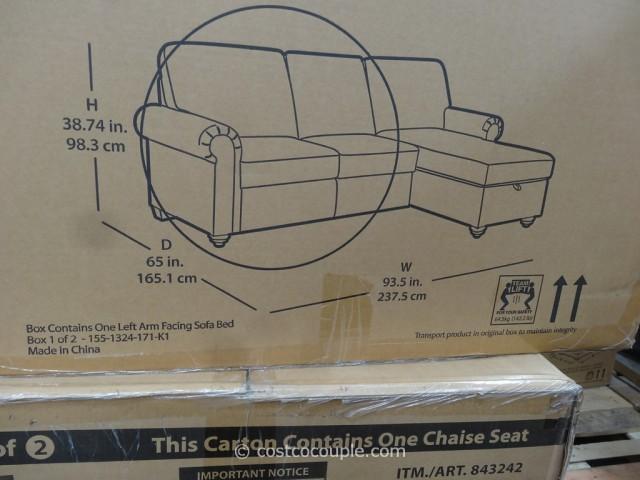 Pulaski Newton Chaise Sofa Bed Costco 6