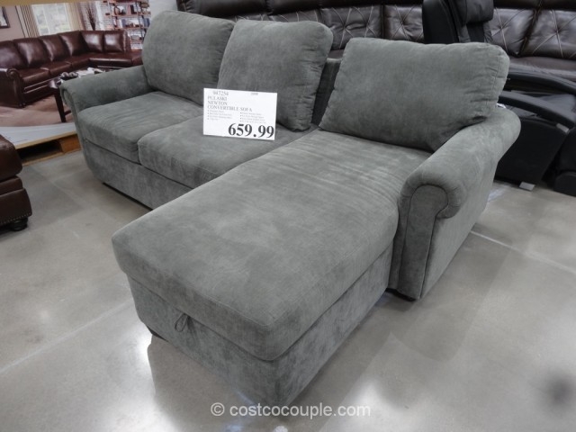 Beau Pulaski Newton Convertible Sofa Costco 2 ...