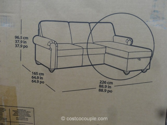 Pulaski Newton Convertible Sofa Costco 4