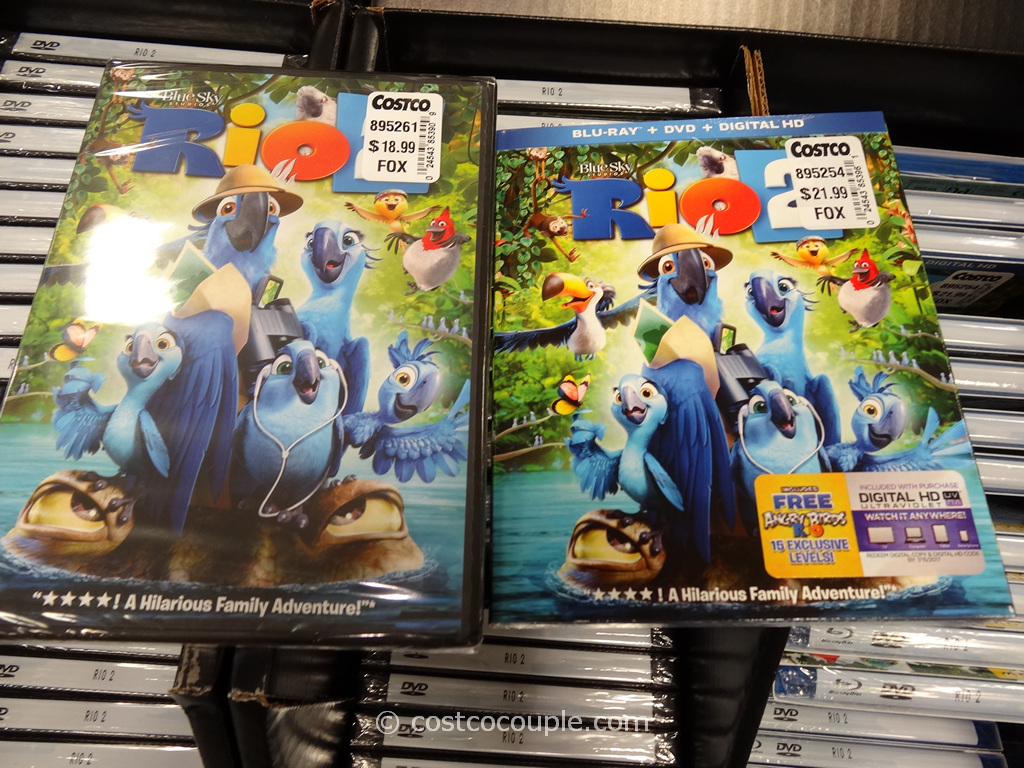 Rio 2 Blu-Ray DVD Costco 4