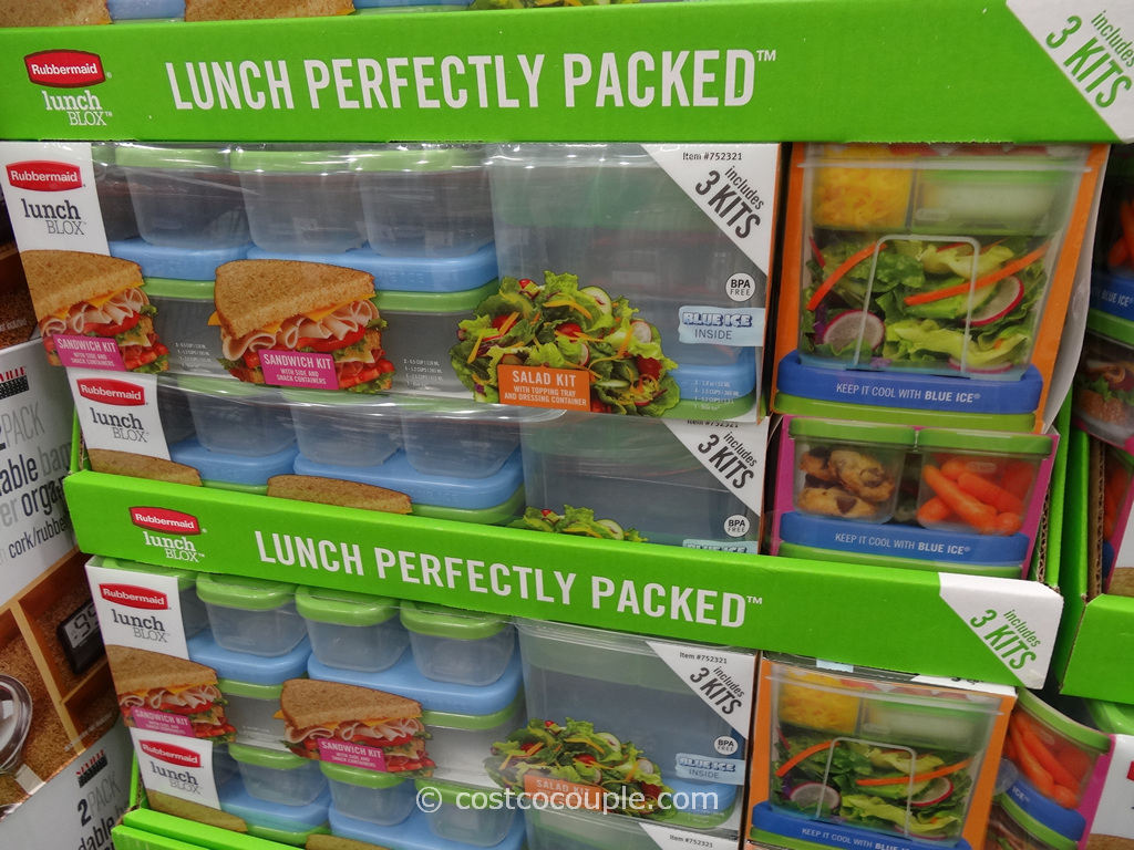 Rubbermaid Lunch Blox Set Costco 6