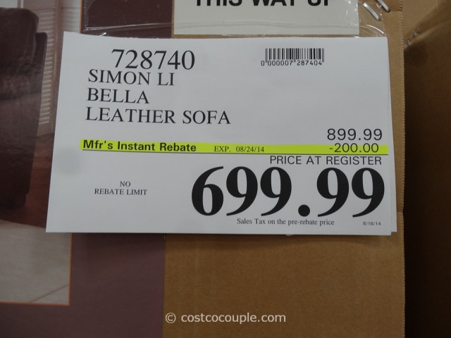 Simon Li Bella Leather Sofa Costco