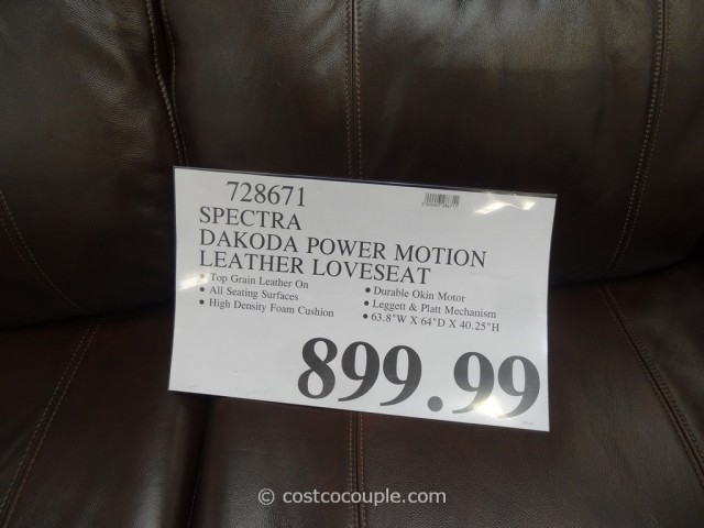 Spectra Dakoda Power Motion Leather Loveseat Costco 1