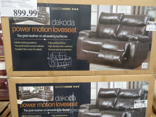 Spectra Dakoda Power Motion Leather Loveseat Costco 2