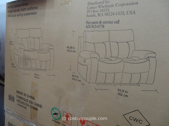 Spectra Dakoda Power Motion Leather Loveseat Costco 5