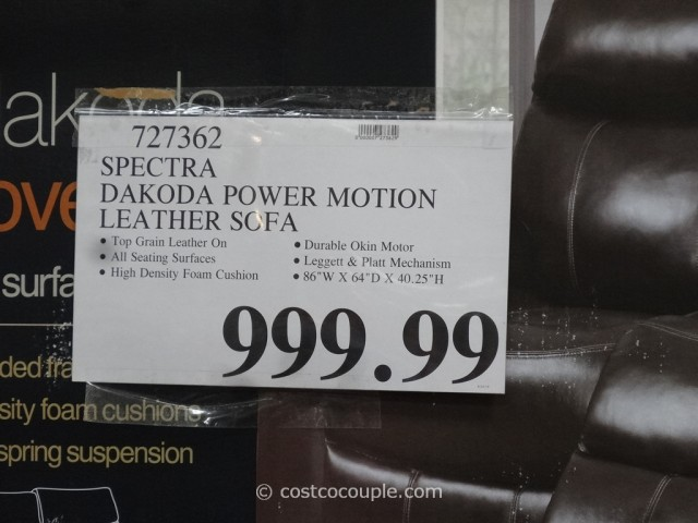 Spectra Dakoda Power Motion Leather Sofa
