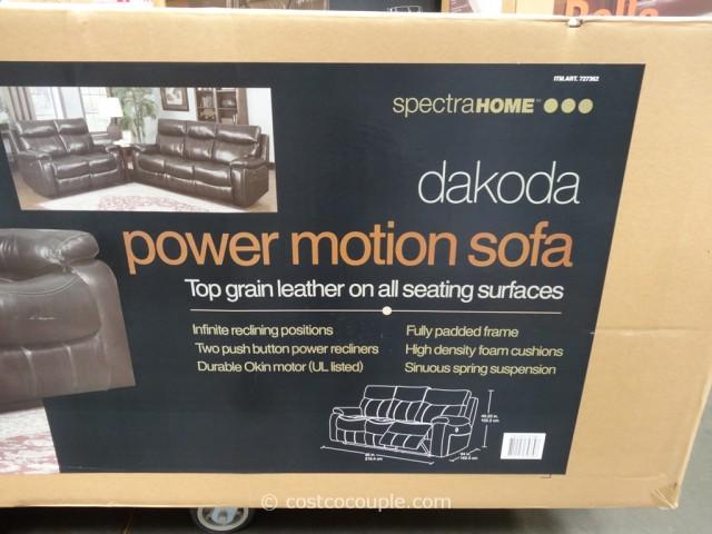 Spectra Dakoda Power Motion Leather Sofa Costco 3