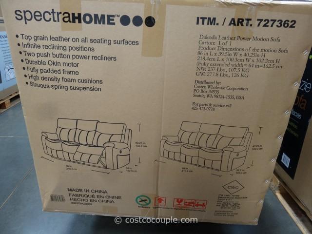 Spectra Dakoda Power Motion Leather Sofa Costco 4