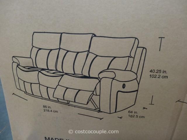Spectra Dakoda Power Motion Leather Sofa Costco 6