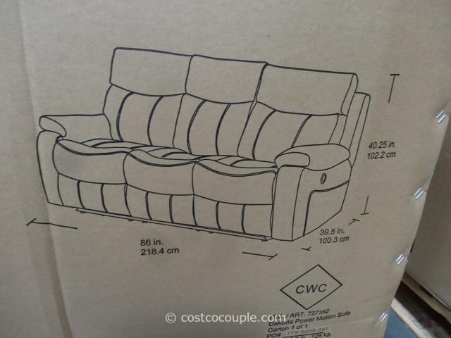 Spectra Dakoda Power Motion Leather Sofa Costco 7