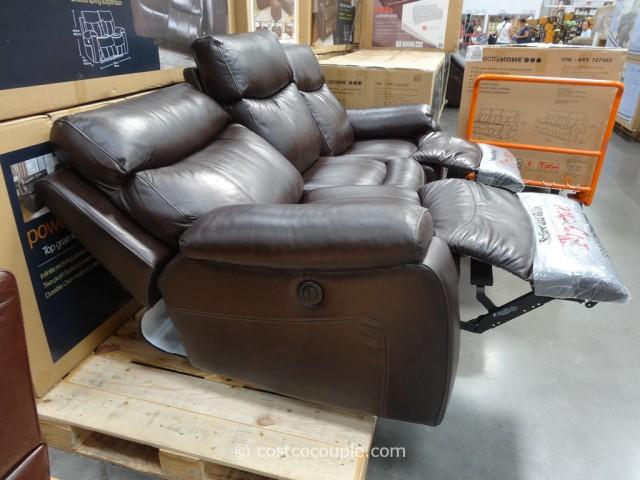 Spectra Dakoda Power Motion Leather Sofa Costco 9