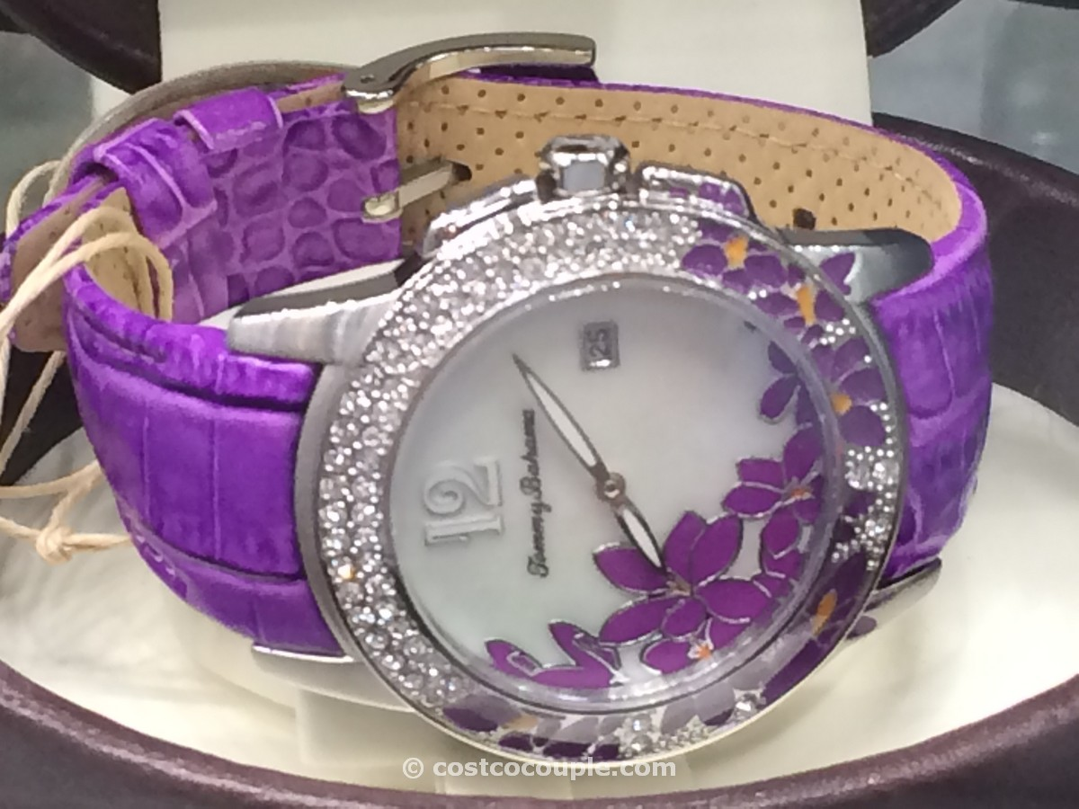 Tommy Bahama Floral Mother of Pearl Ladies Watch Costco 2