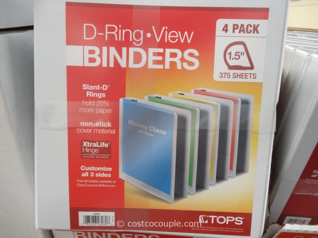 Tops D-Ring 4-Pack View Binder Costco 2