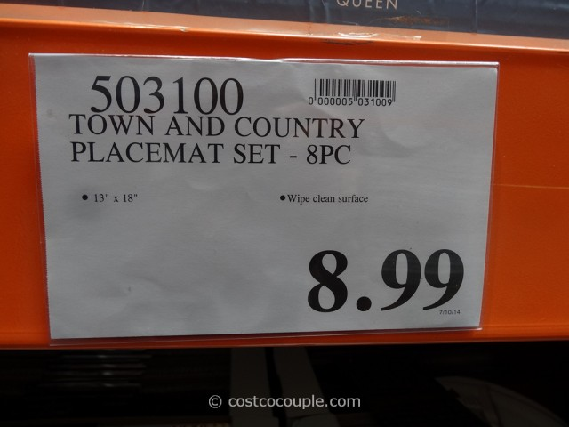 Town And Country Placemat Set Costco 1