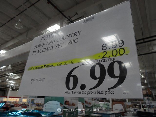Town And Country Placemat Sets Costco