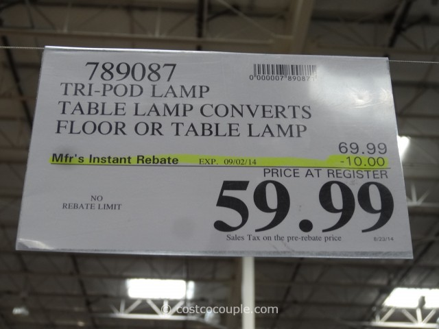 Tripod Convertible Lamp Costco