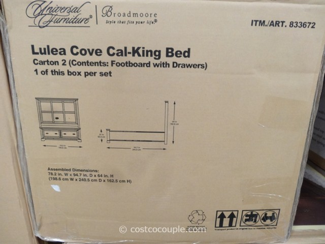 Universal Furniture Lulea Cove Cal-King Bed Costco 5