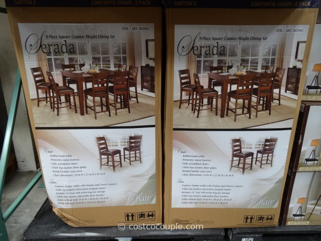 Universal Furniture Serada 9-Piece Counter Height Dining Set Costco 1