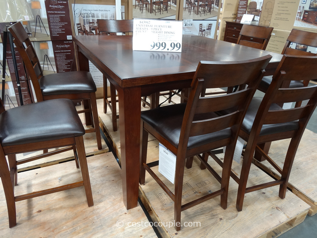 Universal Furniture Serada 9-Piece Counter Height Dining Set Costco 7