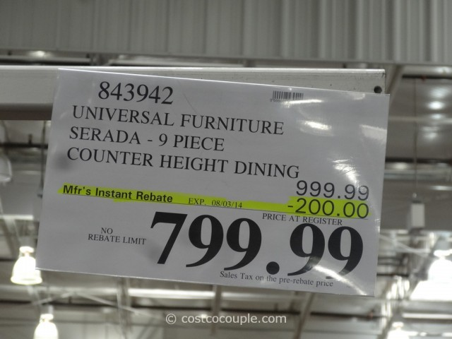 Universal Furniture Serada Counter Height Dining Set Costco
