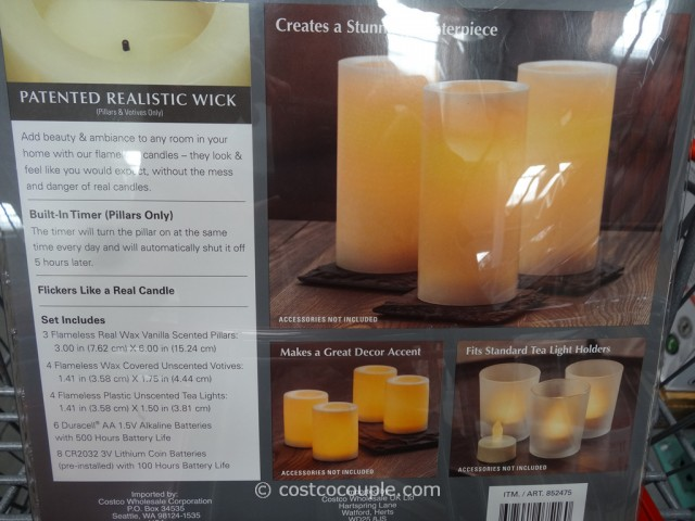 Flameless Candles Costco Stunning 60Piece Flameless LED Candles