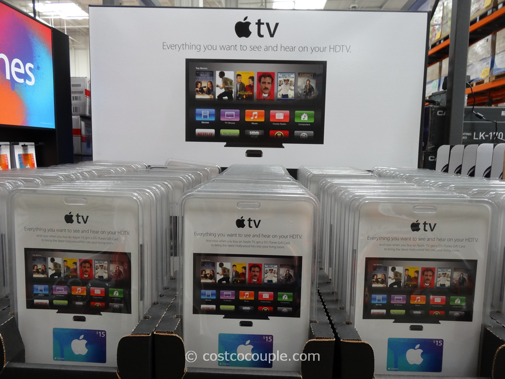 Apple TV With iTunes Gift Card Costco 2