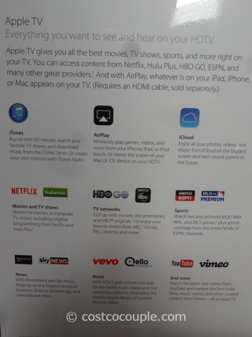 Apple TV With iTunes Gift Card Costco 3