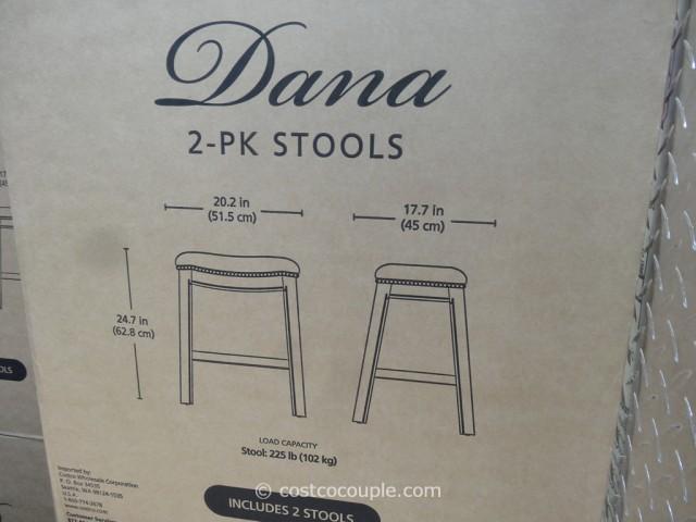 Bayside Furnishings Dana Saddle Barstools Costco 2