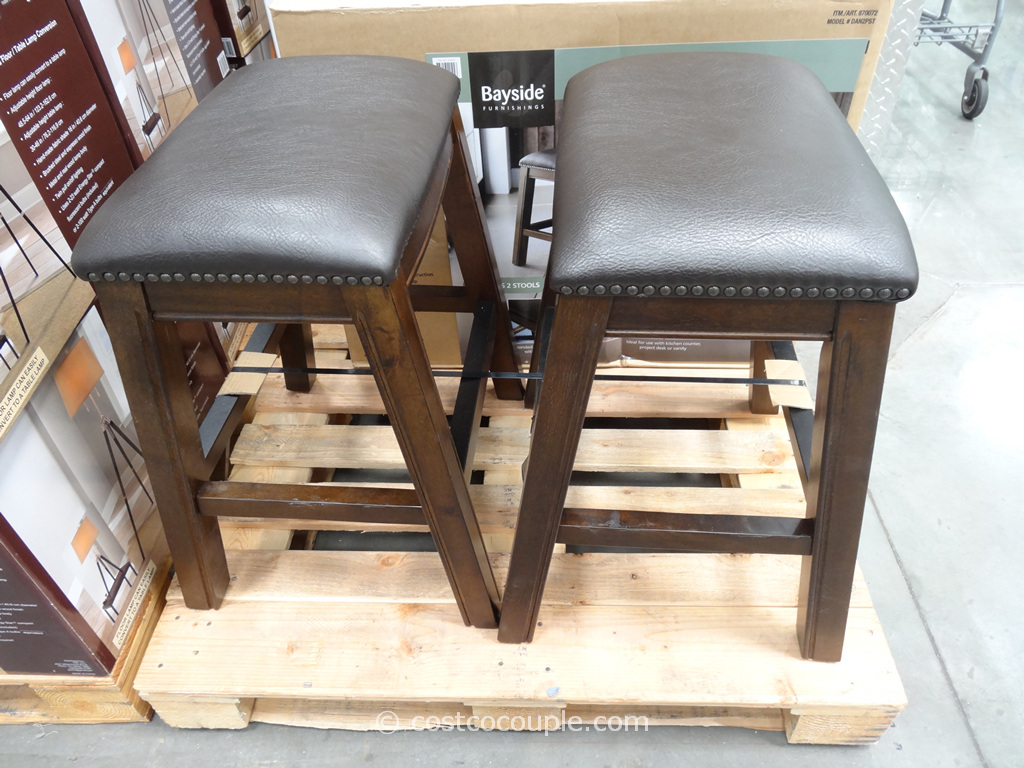 Bayside Furnishings Dana Saddle Barstools Costco 4