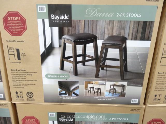 Bayside Furnishings Dana Saddle Barstools Costco  6