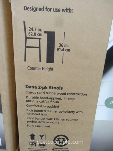 Bayside Furnishings Dana Saddle Barstools Costco 7