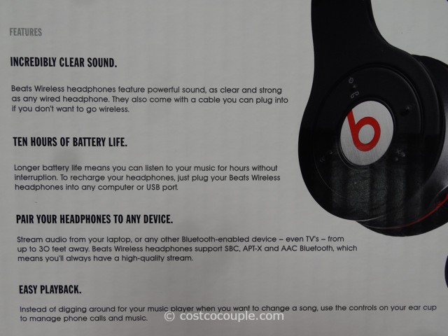 Beats By Dr Dre Wireless Bluetooth Headphones Costco 6