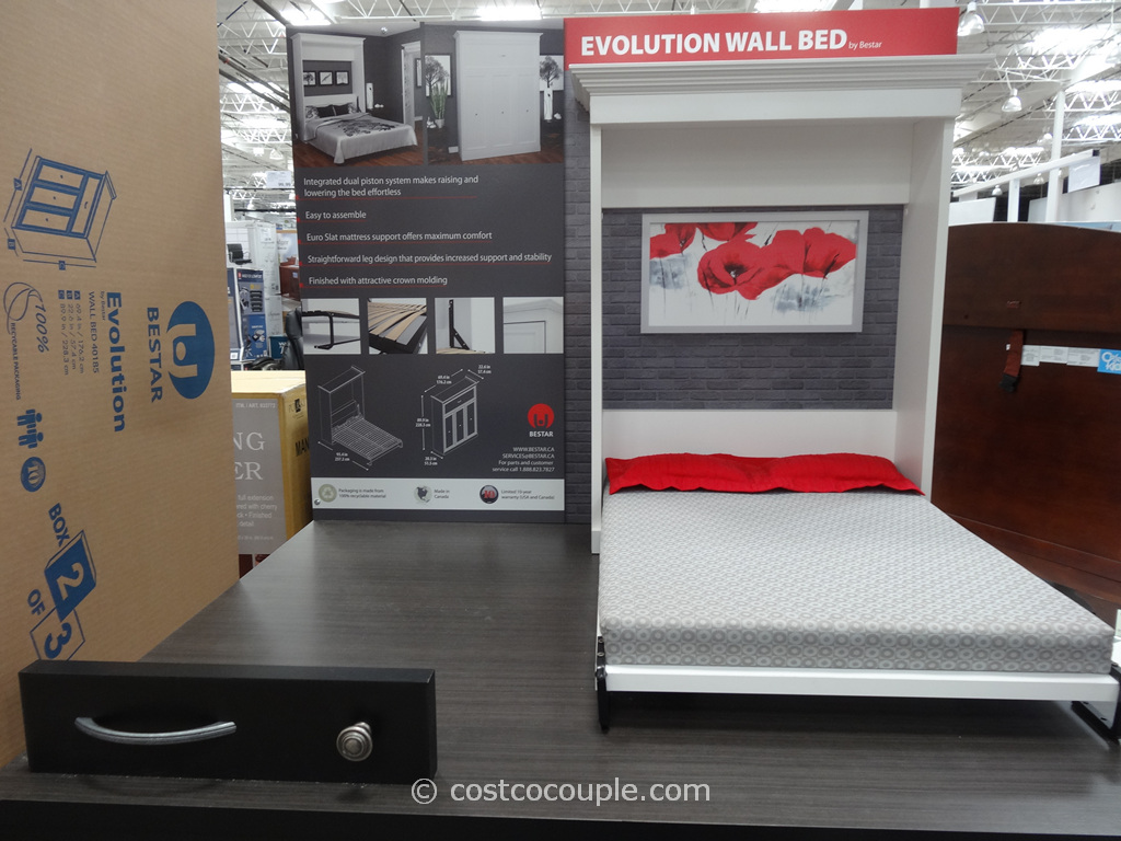 Bestar Evolution Queen Size Wall Bed Costco 6