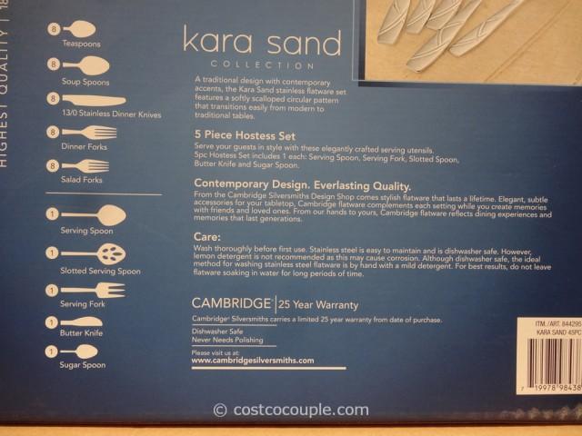 Cambridge Ascot Kara Sand Flatware Set Costco 2