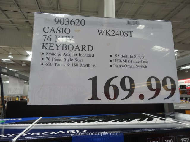 Casio Digital Keyboard WK-240 Costco 1