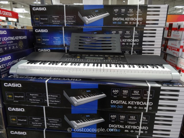 Casio Digital Keyboard WK-240 Costco 4