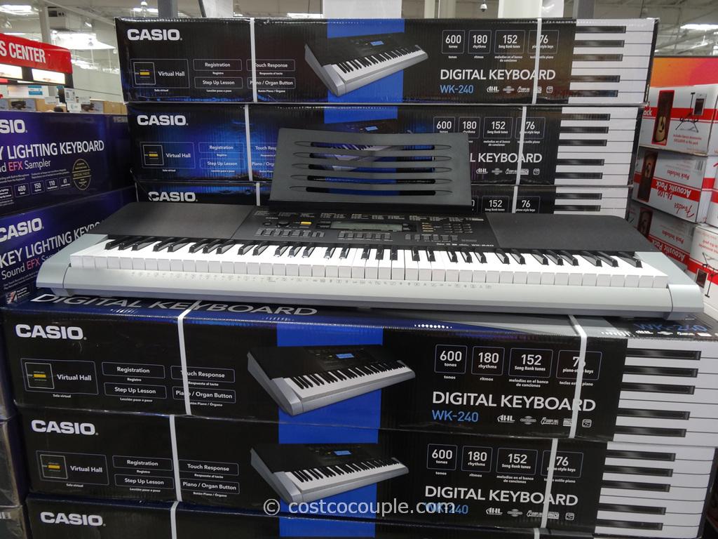 Casio Digital Keyboard WK-240 Costco 4