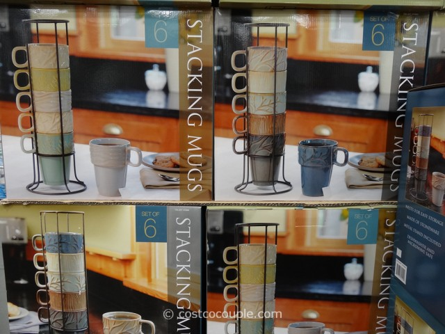Ceramic Stacking Mug Set Costco 4