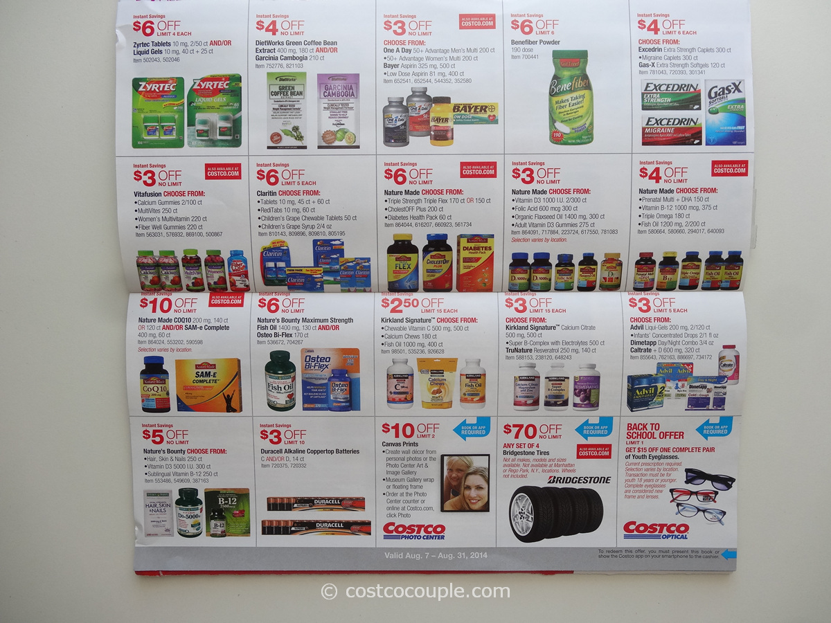 Costco August 2014 Coupon Book 08 07 14 To 08 31 14