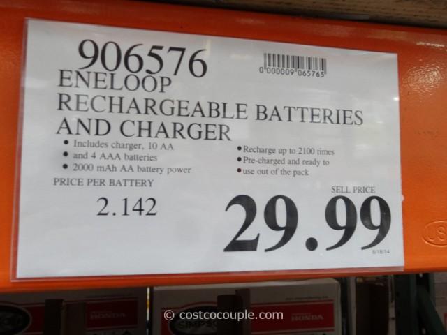 Eneloop Rechargeable Batteries Set Costco 1