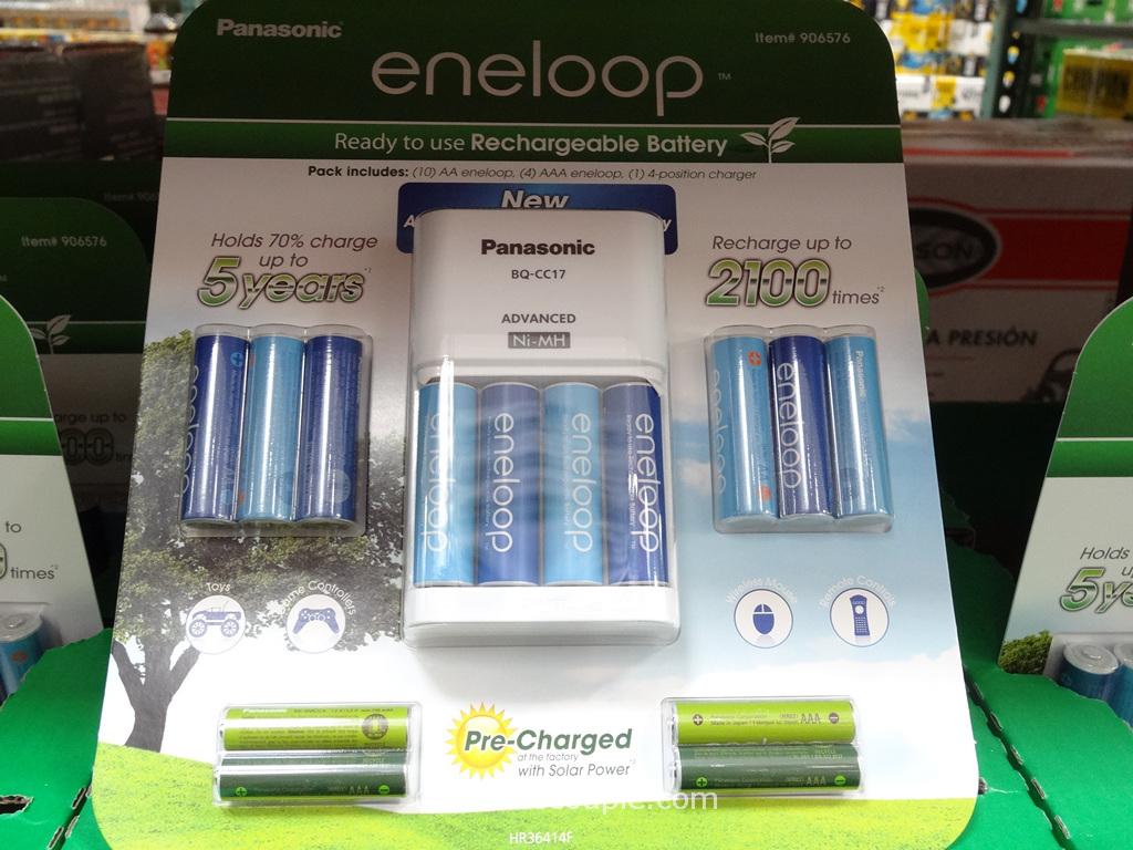 Eneloop Rechargeable Batteries Set Costco 3