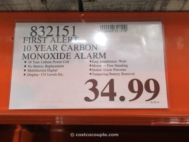 First Alert 10 Year Carbon Monoxide Alarm Costco 1