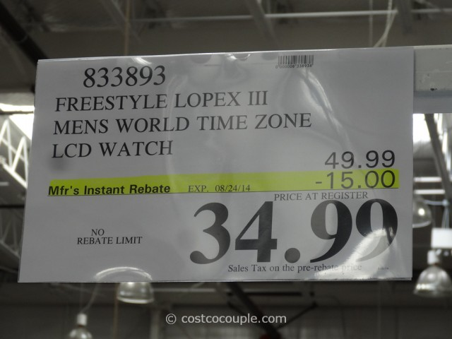 Freestyle Lopex Mens World Time Watch Costco