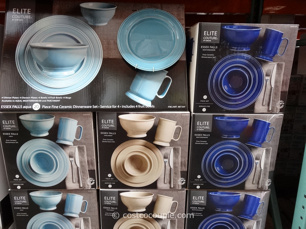 Gibson Essex Falls Dinnerware Set Costco 2