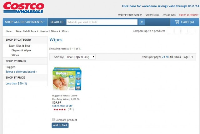 Huggies Natural Care Plus Baby Wipes Costco