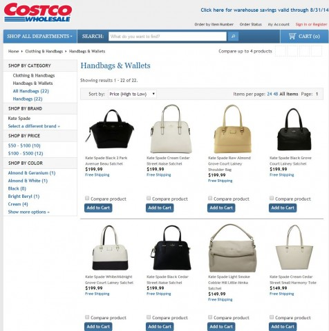 Kate Spade Handbags Costco 5